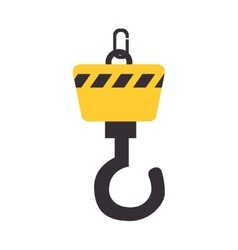 crane construction equipment icon vector image