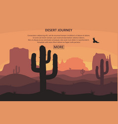 desert journey page vector image