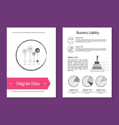 Diagram data and business liability vector