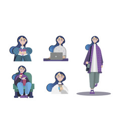 Different girl vector