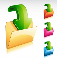 Download folder icon vector