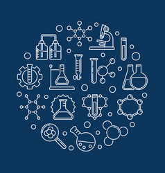 education and chemistry outline round vector image