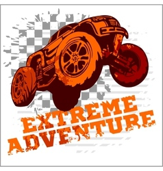 emblem with off-road cars vector image