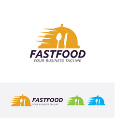 Fast food logo design vector