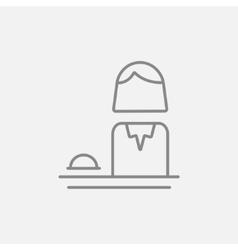 Female receptionist line icon vector image