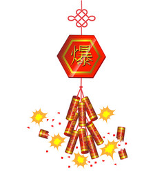 Firecracker Chinese new year vector image