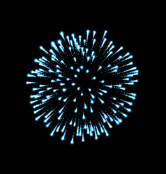 Firework blue sparkle isolated background vector