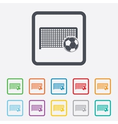 Football gate sign icon Soccer Sport symbol vector image