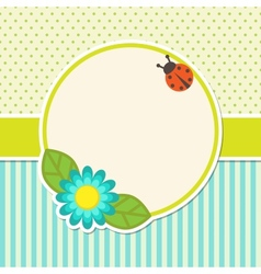 Frame with flower vector
