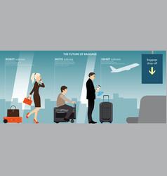 Future luggage vector