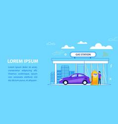gas station concept car fuel service vector image