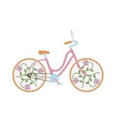 Girl bike vector image