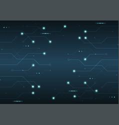 glowing futuristic circuit board electronic vector image