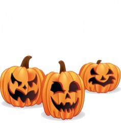 Halloween Jack-o-lanterns vector