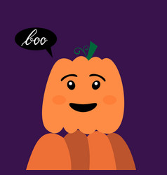 Halloween pumpkin with inscription boo vector