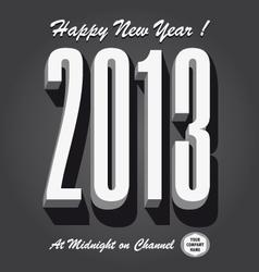 Happy new year 2013 retro vector
