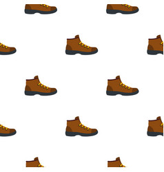 hiking boot pattern flat vector image
