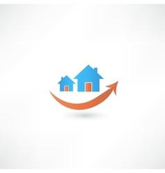Home sign real estate concept design smile vector