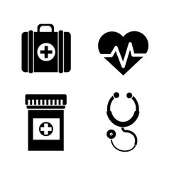 Hospital medicine tools icon vector