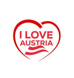 i love austria vector image