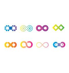 Infinity-icon-set vector
