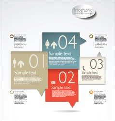 Infographic modern template vector