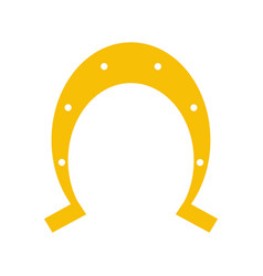 isolated horseshoe icon image vector image