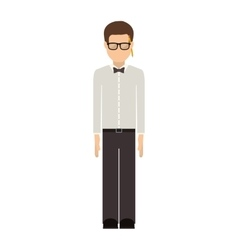 Man wearing suit with shirt and pants vector