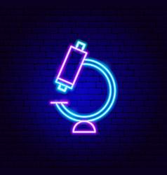 microscope neon sign vector image