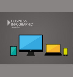 minimalist electronic devices set vector image