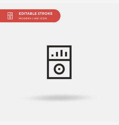 mp player simple icon symbol vector image