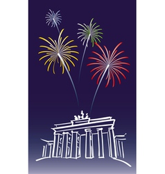New Year in Berlin vector image