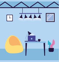 office workspace design vector image