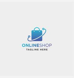 online shop logo design sale market symbol icon vector image