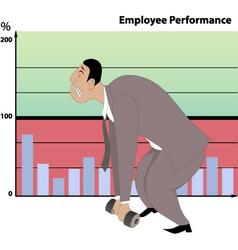 Poor job performance vector image
