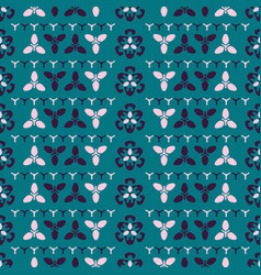 retro turqoise and blue trendy stripes ornamental vector image