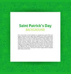 Saint patrick paper template vector