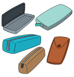 Set of pencil case vector