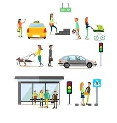 set street traffic concept design vector image