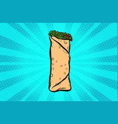 shawarma kebab doner vector image