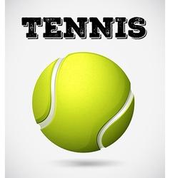 Single tennis ball with text vector