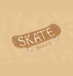 skateboarding label logo for skater badge vector image