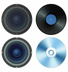 sound set vector image