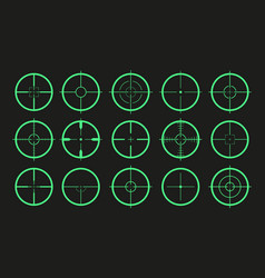 Target icon crosshair and aim sniper sight vector