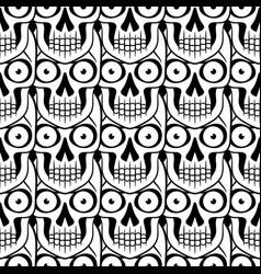 tattoo skull seamless pattern vector image