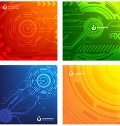 Techno Background Set vector