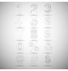 Three dimensional mesh stylish numbers and other vector
