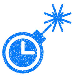 Time bomb grunge icon vector