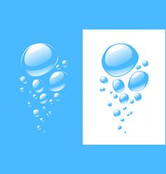 Water with bubbles aqua vector