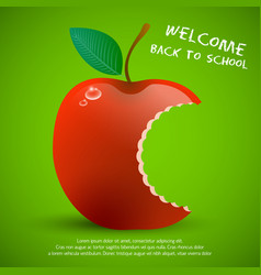 welcome back to school composition vector image